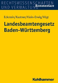 Cover Landesbeamtengesetz Baden-Württemberg