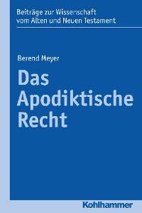 Cover Das Apodiktische Recht