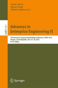 Cover Advances in Enterprise Engineering IX
