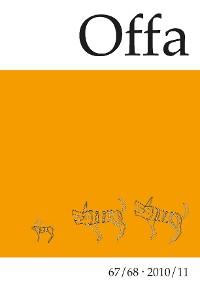 Cover Offa-Zeitschrift. Berichte und Mitteilungen zur Urgeschichte, Frühgeschichte und Mittelalterarchäologie