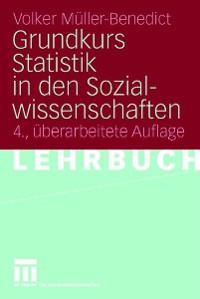 Cover Grundkurs Statistik in den Sozialwissenschaften