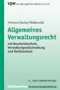 Cover Allgemeines Verwaltungsrecht