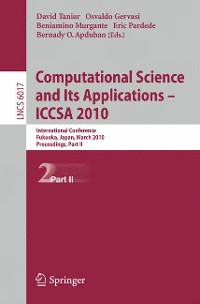Cover Computational Science and Its Applications - ICCSA 2010