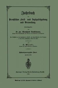 Cover Jahrbuch der Preutzischen Forst- und Jagdgesetzgebung und Verwaltung