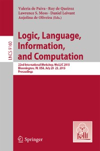 Cover Logic, Language, Information, and Computation