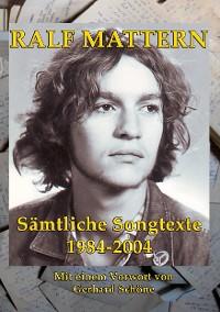 Cover Sämtliche Songtexte 1984-2004