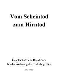 Cover Vom Scheintod zum Hirntod