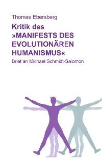 Cover Kritik des Manifests des evolutionären Humanismus