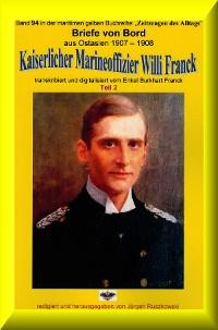 Cover Briefe von Bord – 1907-08 - Kaiserlicher Marineoffizier Willi Franck