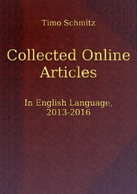 Cover Collected Online Articles In English Language, 2013-2016