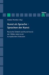 Cover Kunst als Sprache - Sprachen der Kunst