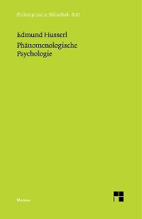 Cover Phänomenologische Psychologie