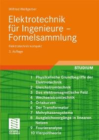 Cover Elektrotechnik für Ingenieure - Formelsammlung