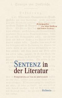 Cover Sentenz in der Literatur