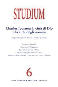 Cover Studium - Charles Journet: la città di Dio e la città degli uomini