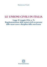 Cover Le unioni civili in Italia