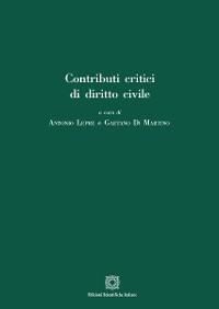 Cover Contributi critici di diritto civile