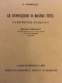 Cover Le annotazioni di Mastro Titta carnefice romano
