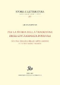 Cover Per la storia della tradizione degli Epigrammata Bobiensia
