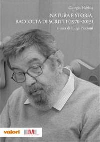 Cover Natura e storia. Raccolta di scritti (1970-2013)