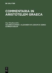 Cover Alexandri in librum De sensu commentarium
