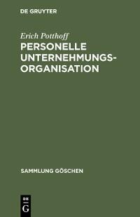 Cover Personelle Unternehmungsorganisation
