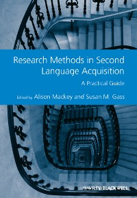 Cover Research Methods in Second Language Acquisition