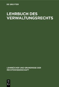 Cover Lehrbuch des Verwaltungsrechts