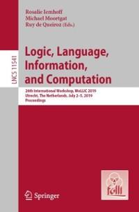 Cover Logic, Language, Information, and Computation