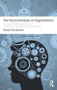 Cover Psychoanalysis of Organizations