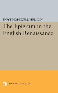 Cover Epigram in the English Renaissance