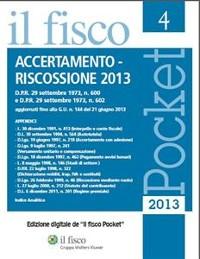 Cover Accertamento - Riscossione 2013