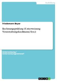 Cover Rechnungsprüfung (Unterweisung Veranstaltungskaufmann/-frau)