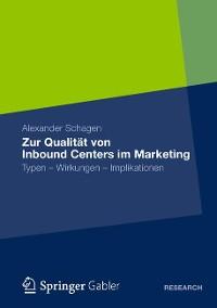 Cover Zur Qualität von Inbound Centers im Marketing