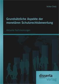 Cover Grundsätzliche Aspekte der monetären Schutzrechtsbewertung: Aktuelle Fachmeinungen