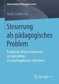Cover Steuerung als pädagogisches Problem
