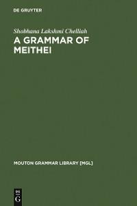 Cover A Grammar of Meithei