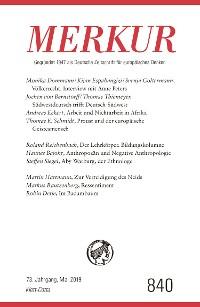 Cover MERKUR Gegründet 1947 als Deutsche Zeitschrift für europäisches Denken - 2019-5