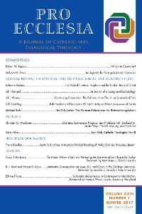 Cover Pro Ecclesia Vol 26-N1