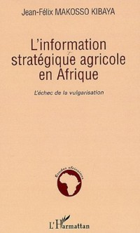 Cover Information strategique agricole en afri