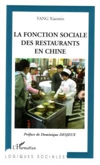 Cover Fonction sociale des restaurants en chin