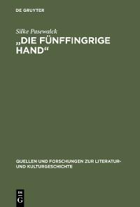 """Cover """"Die fünffingrige Hand"""""""
