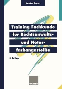 Cover Training Fachkunde fur Rechtsanwalts- und Notarfachangestellte