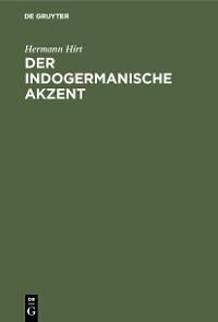 Cover Der indogermanische Akzent