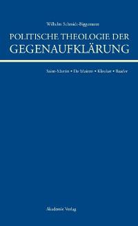 Cover Politische Theologie der Gegenaufklärung