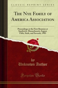 Cover Nye Family of America Association