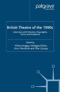Cover British Theatre of the 1990s