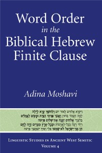 Cover Word Order in the Biblical Hebrew Finite Clause