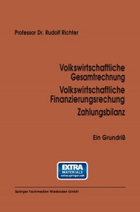 Cover Volkswirtschaftliche Gesamtrechnung Volkswirtschaftliche Finanzierungsrechnung Zahlungsbilanz