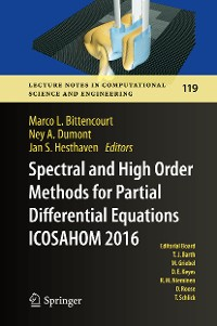 Cover Spectral and High Order Methods for Partial Differential Equations  ICOSAHOM 2016